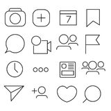 Set of Internet icons. Line, outline style. Vector image illustration. Royalty Free Stock Photo