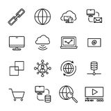 Set of internet icons in modern thin line style. Royalty Free Stock Photography