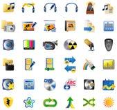Set Internet-Ikonen Stockbild
