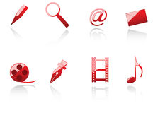 Set of internet and media symbols Stock Image