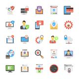 Set Of Internet Security Icons In Flat Design Stock Images