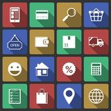 Set of internet shopping icons. For search purchase and delivery vector illustration Royalty Free Stock Photography
