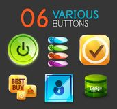 Set of internet web buttons Royalty Free Stock Photo