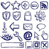 Set of internet web icons Stock Image