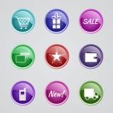 Set interneta sklepu ikony Zdjęcia Royalty Free