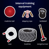 Set of interval training sport equipment Stock Image