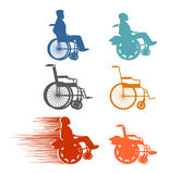 Set invalid. Collection of silhouettes of various disabilities a Royalty Free Stock Images