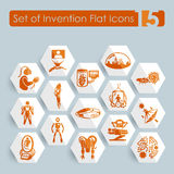 Set of invention icons Stock Photography