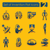 Set of invention icons Stock Photos