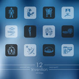 Set of invention icons Stock Photo