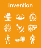 Set of invention simple icons Stock Image