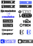 Set of Invention and technology logos Stock Photo