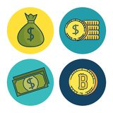 Set of Investment Financial Internet Technology icon. Set of Fintech Investment Financial Internet Technology icon industry vector illustration graphic design Stock Photography