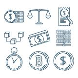Set of Investment Financial Internet Technology icon. Set of Fintech Investment Financial Internet Technology icon industry vector illustration graphic design Royalty Free Stock Photos