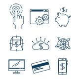 Set of Investment Financial Internet Technology icon. Set of Fintech Investment Financial Internet Technology icon industry vector illustration graphic design Stock Images