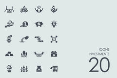Set of investments icons Royalty Free Stock Photos