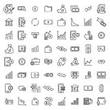 Set of investments thin line icons. Royalty Free Stock Images