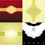 Set of Invitation Backgrounds Stock Photo