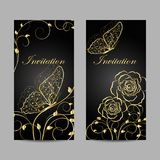 Set of invitation cards design. Stock Image