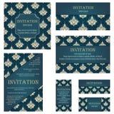 Set of Invitation Cards Stock Photos