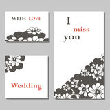 A set of invitation cards Royalty Free Stock Photo