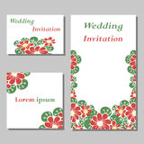 A set of invitation cards Stock Photography