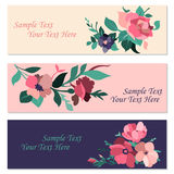 Set of invitation cards with flowers. Vector illustration vector illustration