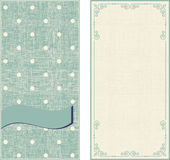 Set of invitation cards on polka dots background Royalty Free Stock Image