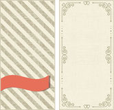 Set of invitation cards Royalty Free Stock Images