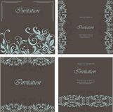 Set of invitation floral card Stock Image