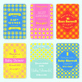 Set of  invitation templates. Colorful baby showery card.  Stock Photography
