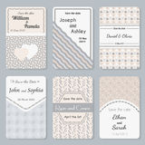 Set of  invitation templates. Elegant vintage wedding day card.  Royalty Free Stock Photo