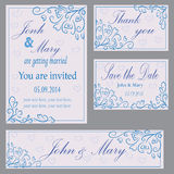 Set of invitation to the wedding Stock Photo