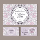 Set of invitation wedding cards with place for text Royalty Free Stock Photos