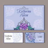 Set of invitation wedding cards with place for text Royalty Free Stock Image