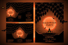 Set of invitations for halloween Royalty Free Stock Photography