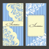 Set of invitations Stock Image