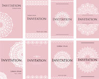A set of invitations for a wedding celebration. Beautiful card, letterhead for the text. Stock Image