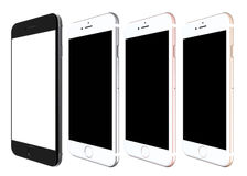 Set of iPhone 6s smartphones presented by Apple at this year's event in San Francisco Stock Photo
