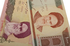 Set of Iranian rials banknotes. Rial is the national currency of Iran Stock Image