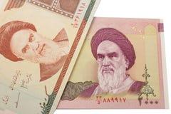 Set of Iranian rials banknotes. Stock Image
