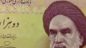 Set of Iranian rials banknotes. stock video footage