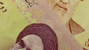 Set of Iranian rials banknotes. stock video