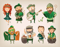 Set of irish characters. Royalty Free Stock Image