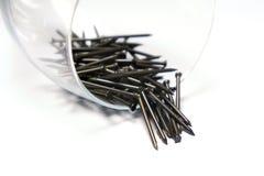 Set of iron nails. Isolated on white background Royalty Free Stock Photo