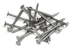 Set of iron Nails stock images
