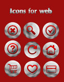 Set the iron web icons Stock Photography