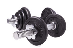 Set of iron weights Royalty Free Stock Image