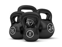 Set of iron weights Stock Photo