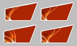 Set irregular text frame Stock Image